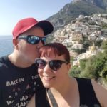 My wife and I on the Amalfi Coast.